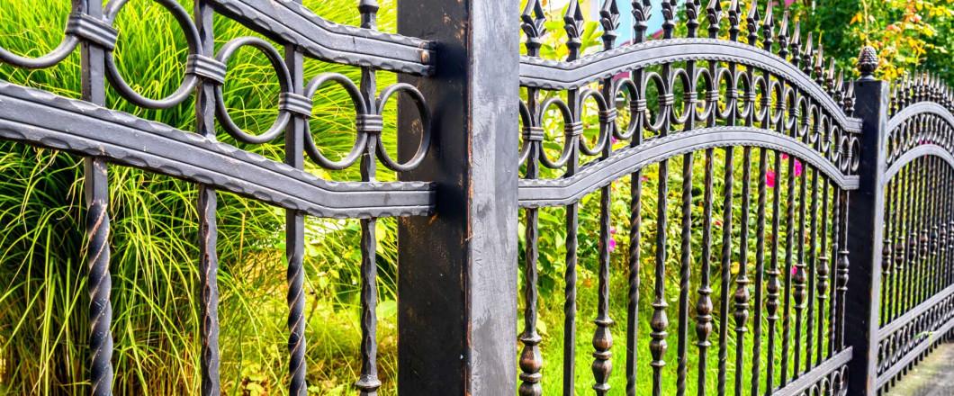 ornamental iron fence installation in Billings, MT